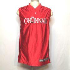 Nike Jordan Cincinnati Bearcats Basketball Red Reversible Jersey L Mens NCAA