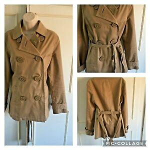BODEN - beige short belted trench coat - Size 12