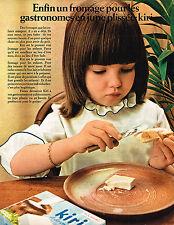 PUBLICITE ADVERTISING 055  1969  KIRI  fromage pour jupe plissée