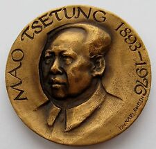 Norway 1977 Kari Rolfsen Bronze Medal China Leader MAO ZEDONG 45 mm 55 gr / N142