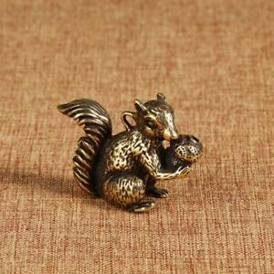 Solid Brass Squirrel Incense Stick Pendant Statue House Small Squirrel keychains