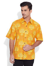 Men Short Sleeve Hawaiian Shirt Floral Button Down Men Shirt Beach Casual Wear