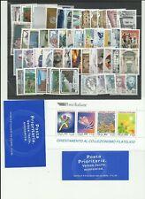 REPUBBLICA  - MNH**  ANNATA  COMPLETA  1999  49  VAL. + 1  FOG.+2 LIB.  NUOVA