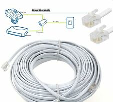 5m METER Metre RJ11 TO RJ11 ADSL BT BROADBAND Router Modem Internet CABLE WHITE