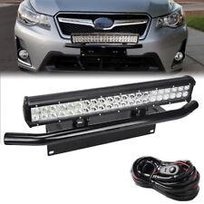 "FIT Subaru Impreza forester 22"" 126W LED Light Bull Bar Bumper Licence Plate Kit"
