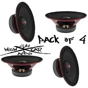 "4) DS18 PRO-X10M 10"" Midrange Speaker 2400W Max 8 Ohm 10 inch Midbass (Set of 4)"