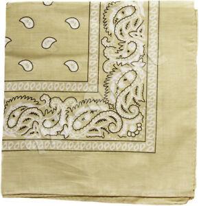 Lot  3/6/12 PackPaisley Print Bandana 100% Cotton Head Warp Scarf