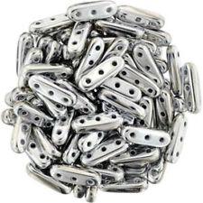 Czechmates Beam 3x10mm 3 hole Glass Spacer 30 Bar Beads
