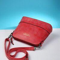 Women Vintage Handbag Crossbody Bag Ladies Nubuck Leather Mini Bag Shell red