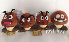 "4X Super Mario Bros. Plush Goomba Paragoomba Soft Toy Stuffed Animal Teddy 5.5"""