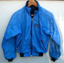 Vintage 1980's Patagonia Boys Blue Zip-Up Fleece-Lined Ski Snow Winter Jacket 10