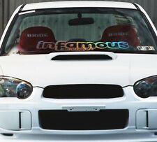 Windshield Window Car Decal Sticker Banner Graphics Vinyl JDM Stance/ Infamous