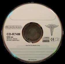 Tdk Cd-r80mtpm100 Disk Cd-r 80 Min Medical Grade 700mb Silver Thermal Printable