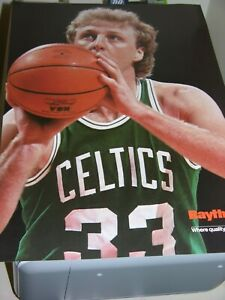 Larry Bird Original Ad Proof Poster Size Boston Celtics 16 5/8x11 5/8 Heavy Stck