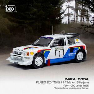 1/24 Ixo Peugeot 205 T16 E2 N°1 Salonen/Harjanne Rallye Des 1000 Lacs 1986 Neuf