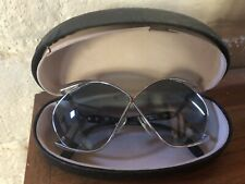 Vintage Christian Dior Butterfly Sunglasses  2056 Rare Silver & Blue 5056