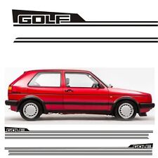 VW MK2 Golf side stripes & rear quarter decals Stickers 16V Syncro Gti CL