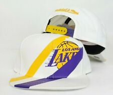 Mitchell & Ness White Los Angeles Lakers snapback Hat Cap