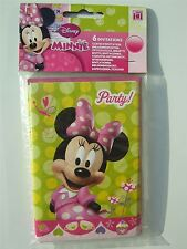 Disney Minnie Mouse 6 party Invitations