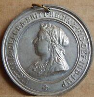 1897 Queen Victoria Diamond Jubilee Commemorative Medal Medallion 45mm
