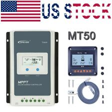 EPEVER 40A MPPT Solar Charge Controller 12/24V Negative Ground Li Battery + MT50