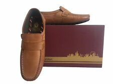 BASE LONDON TAN CARTEL LOAFER SHOES SIZE 6