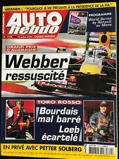 AUTO HEBDO du 15/07/2009; Grand Prix d'Allemagne; Webber/ Torro Rosso