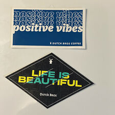 Dutch Bros Coffee Stickers Of The Month Life Is Beautiful & Positive Vibes