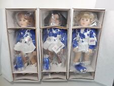 "Junior Fl Dallas Cowboy Cheerleaders 18"" Dolls Set Of 3 Brand New Mib 1996"