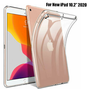 """Case For Apple iPad 8th Generation 10.2"""" 2020 Shockproof Soft Rubber Clear Cover"""