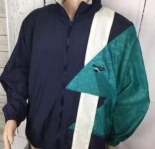Vintage Reebok Jacket Windbreaker Hooded Retro 90s Track Coat Color Way Men Sz L