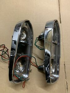 Pair Lucas L669 Rear Lamps -as fitted to Triumph TR4/4a/5 and Aston Martin DB6