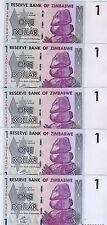 LOT Zimbabwe, 5 x $1, 2007 (2009) P-65r, UNC > ZA Replacement