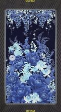 """Timeless Treasures Imperial Garden Navy by Chong-a Hwang CM2751 Navy 24"""" Panel"""
