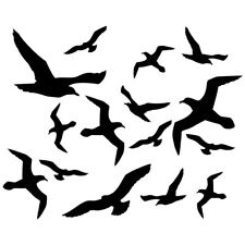 Aufkleber Fenster Extra Groß Schutzvögel Warnvögel Vogelschutz XXL Set 15 Stück