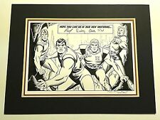 CHALLENGERS OF THE UNKNOWN ORIGINAL RECREATION COMIC ART TRIBUTE AFTER BOB BROWN Comic Art