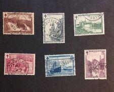 Belgium 1929 Sc# B93-98 Vf Used semi postal set catalogs $50