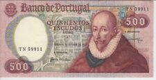 PORTUGAL BANKNOTE P177 CH11-9911 500 ESCUDOS 1979 , PREFIX TN, XF