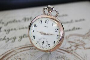Frühe antike OMEGA Taschenuhr in massiv 0.800 Silber pocket watch