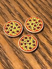 LEGO - pizza tile - pepperoni pattern - 14769pb160 - friends - city -  ( 3 OFF )