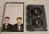 PET SHOP BOYS ACTUALLY CASSETTE TAPE EMI PARLOPHONE UK 1987