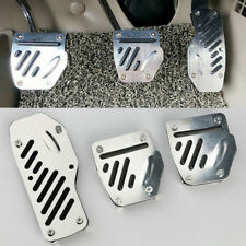 Aluminium alloy  Non-Slip 3pc Foot Pedals Pad Covers Manual Transmission M/T
