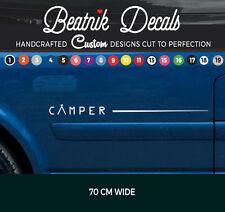 Camper Van Gráfico Pegatina Calcomanía Raya Lateral VW T4, T5, T6 Bongo todos furgonetas de vinilo
