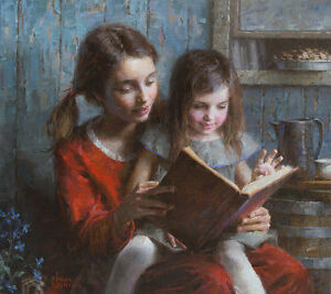 """Sister Stories"" Morgan Weistling Fine Art Giclee Canvas"