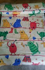 Cotton cat pattern fabric material curtains bedding