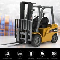 HUINA 1717 1:50 Scale Alloy Forklift Truck Toy Model Engineering Car Kids Gift