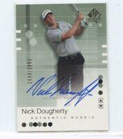Nick Dougherty 2002 Upper Deck SP Authentic Rookie Auto Autograph #D /2999