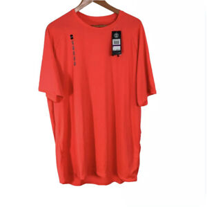 Under Armour Tall XXL  Mens The Tech Tee Golf Shirt Orange New With Tags