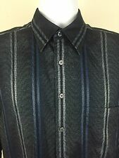 GEORG ROTH of Germany Blue Silver Wild Striped L/S Casual Shirt - Size M EUC