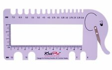 Needle And Crochet Hook Gauge With Yarn Cutter By Knitpro 10994 / 10995